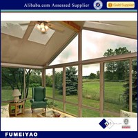Best selling Aluminium Sunroom with tempered glass/frosted glass/double glazing glass for Villas