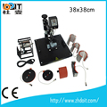 China professional 8 in 1 combo heat press machine with accessories