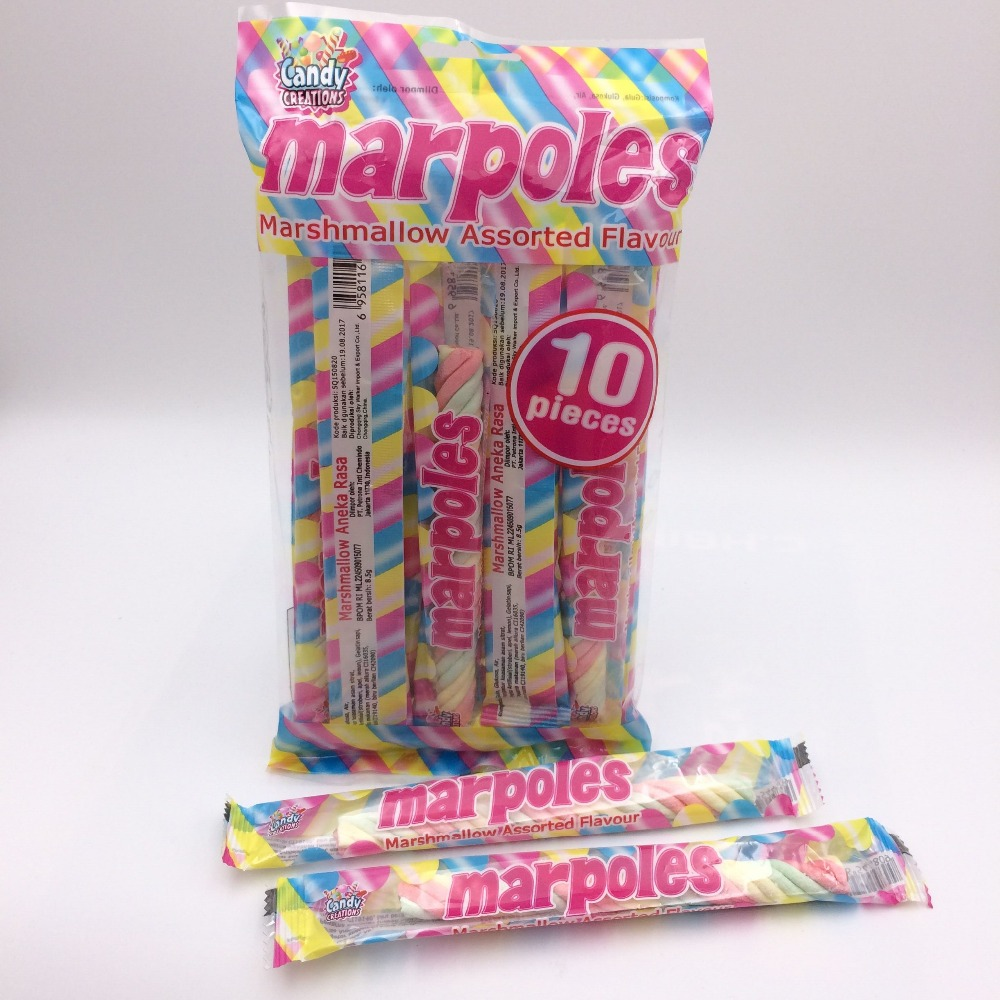 mapoles halal marshmallow stick candy