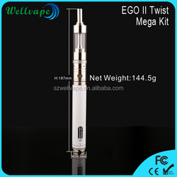 Best EGO II 2200mAh big vapor e cigarette with adjustable voltage