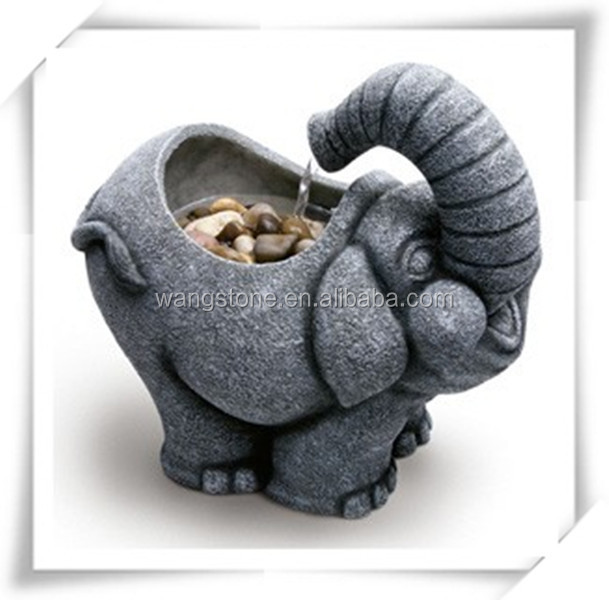 Hot new product China cute garden elephant marble water fountain