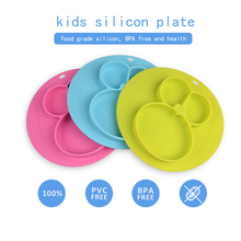 food grade silicone <strong>kids</strong> placemat baby feeding mat silicone mat plate for baby children's placemat approved by FDA in US