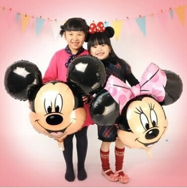aluminum balloons Minnie Mickey head balloon Cartoon Birthday Party Wedding decorations children's toys