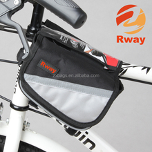 "2015 New ROCKBROS Waterproof Cycling Bike Bicycle Front Bag Top Tube Frame Bag Pannier Double Pouch for 4.8-5.8"" inch Phone"