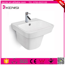 H002 wholesale fashion design ceramic sanitary ware one piece wall hung hand wash basin