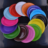 6 Inch Eco Friendly Candy color Disposable tea party paper plates