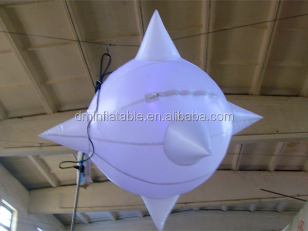 Customize ceiling hanging led lighting inflatable balloon/inflatable light ball
