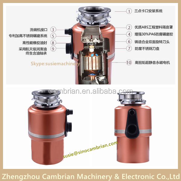 Paypal payment solid waste disposer with permanent magnet motor