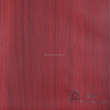 Wood grain vacuum press pvc decorative film for cabinet
