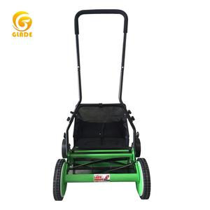 Garden Tools 16inch 4wheels Portable Manuel Hand Held Push Mini Reel Lawn Mower manufacturers with blade