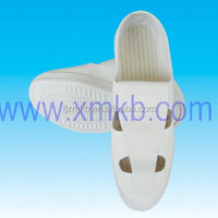 Antistatic Shoes Leather Four Holes Shoes