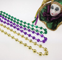 Plastic Beads Manufacturer Metallic Disco beads MOT Mardi Gras beads