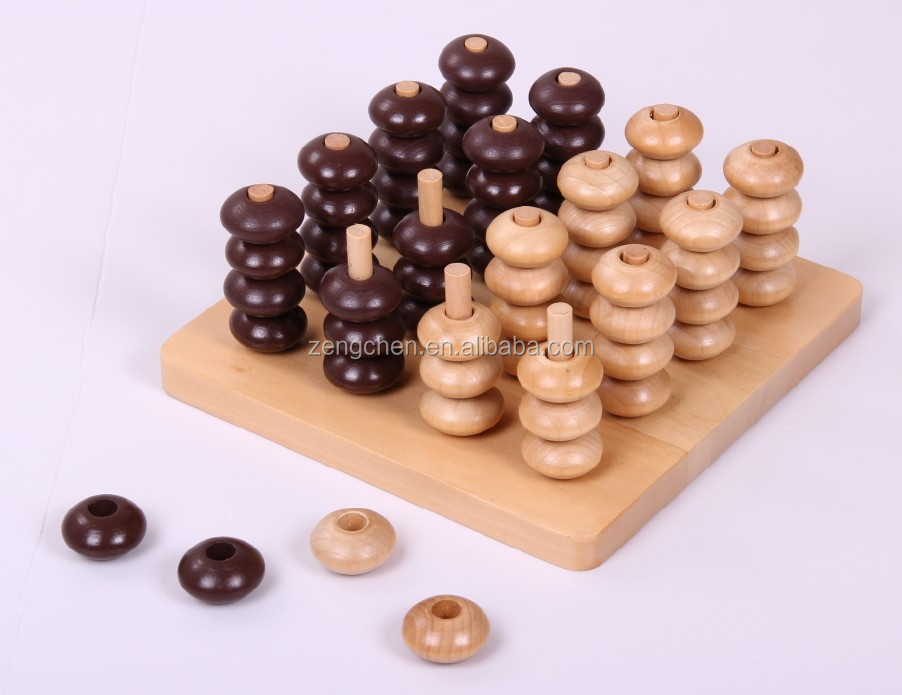 Classic 3D Educational Wooden Chess Puzzle Game