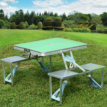 Supply high quality aluminum picnic camp used folding tables chairs