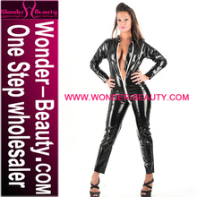 High Quality Black Sex Lady Wet Look Latex Catsuit