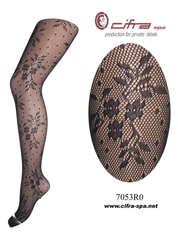 [Hosiery Tights Fancy Fishnet - calze a rete] Floral Pattern Pantyhose - 07053R0CL