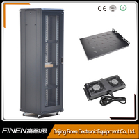 Floor standing network cabinet 42u rackmount PDU Patch panel and UPS