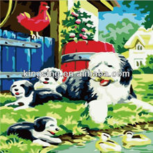 diy animal painting by number unique dog paint numbers digital oil painting 5356