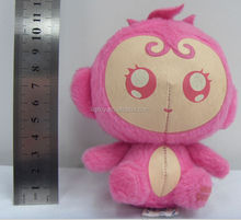 Pink small plush stuffed toy monkey