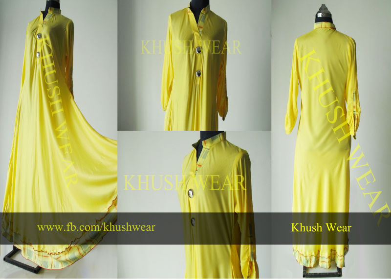 2013 summer hit Yellow kameez at very low price