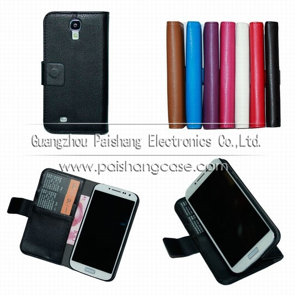 Wallet flip leather case for samsung Galaxy S4(i9500)