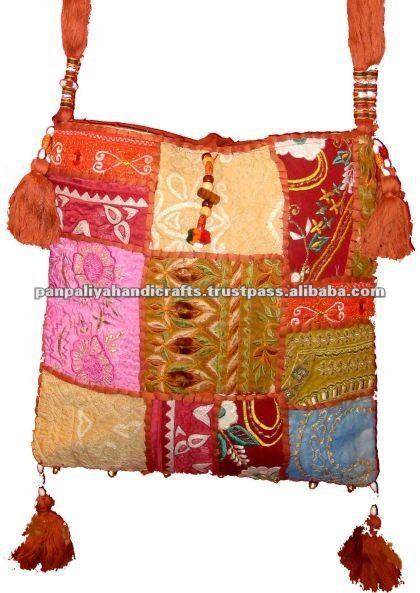 Bolsa De Tecido Hippie : Gypsy boho hippie ?tnica sari vintage tecido bolsa de