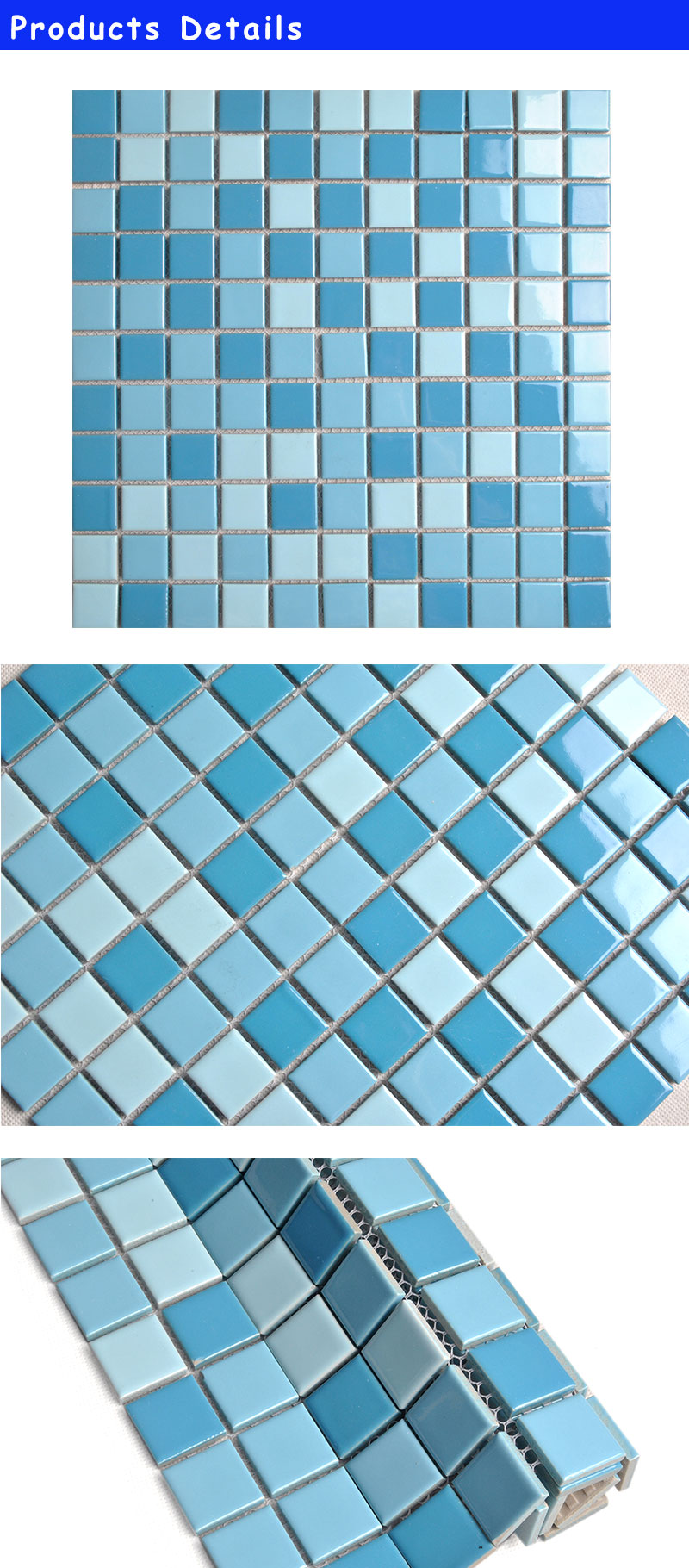 K288H3B 2016 25X25mm square swiming pool ceramics mosaic tiles