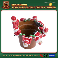 Christmas decoration santa claus wholesale resin garden flower pot