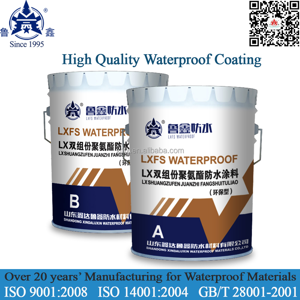 Factory Direct two component polyurethane Colored Liquid waterproof coating