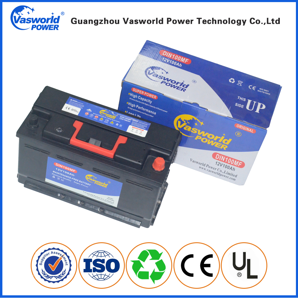 Best Price Good Quality German Technology DIN100 Maintenance Free 12v 100ah smf Battery for Europe Market