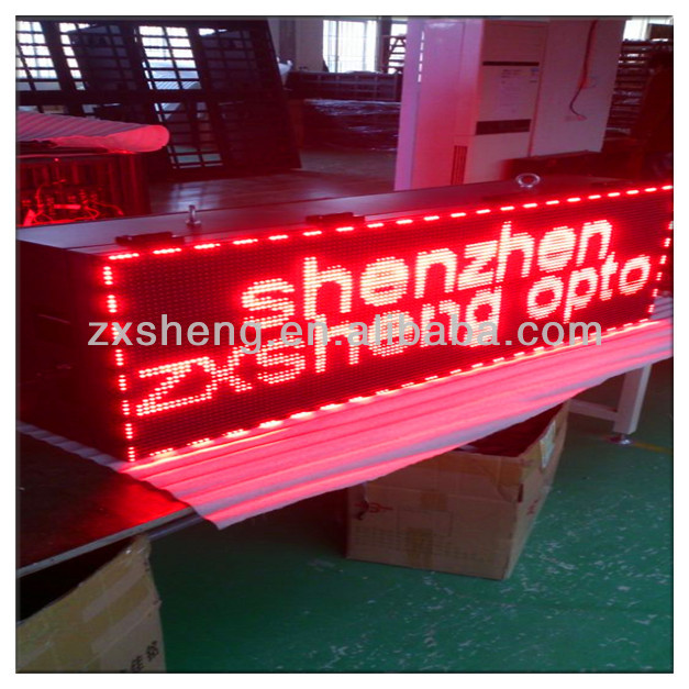 Alibaba cn 32x16 P10 1R Red Color outdoor led panel p10
