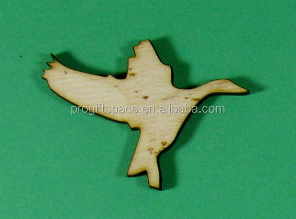 2016 hot sell Laser Cut Unfinished Wood Shapes Flying Goose Duck made in China