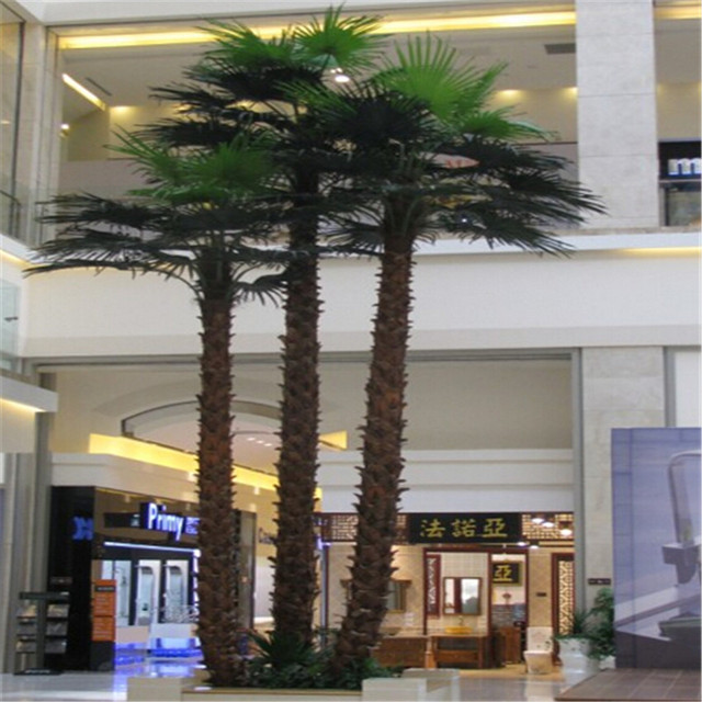 All kinds of artificial date palm trees fake palm trees on hot sale at shenzhen