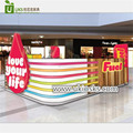 Attractive fuel juice bar kiosk with fresh juice ice cream kiosk for sale