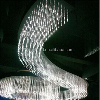decoration light banquet hall lighting pendant chandelier LED fiber optic