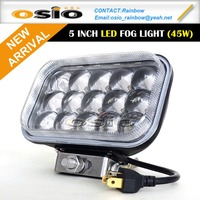 5 inch Square LED Fog Light Auto lamp 45W 8V-36V
