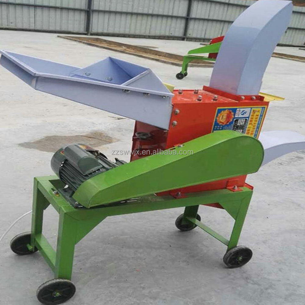 Diesel engine drive animal feed silage chaff cutter
