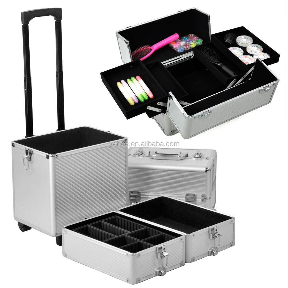 All in1 Hairdressing Professional Makeup Trolley Case