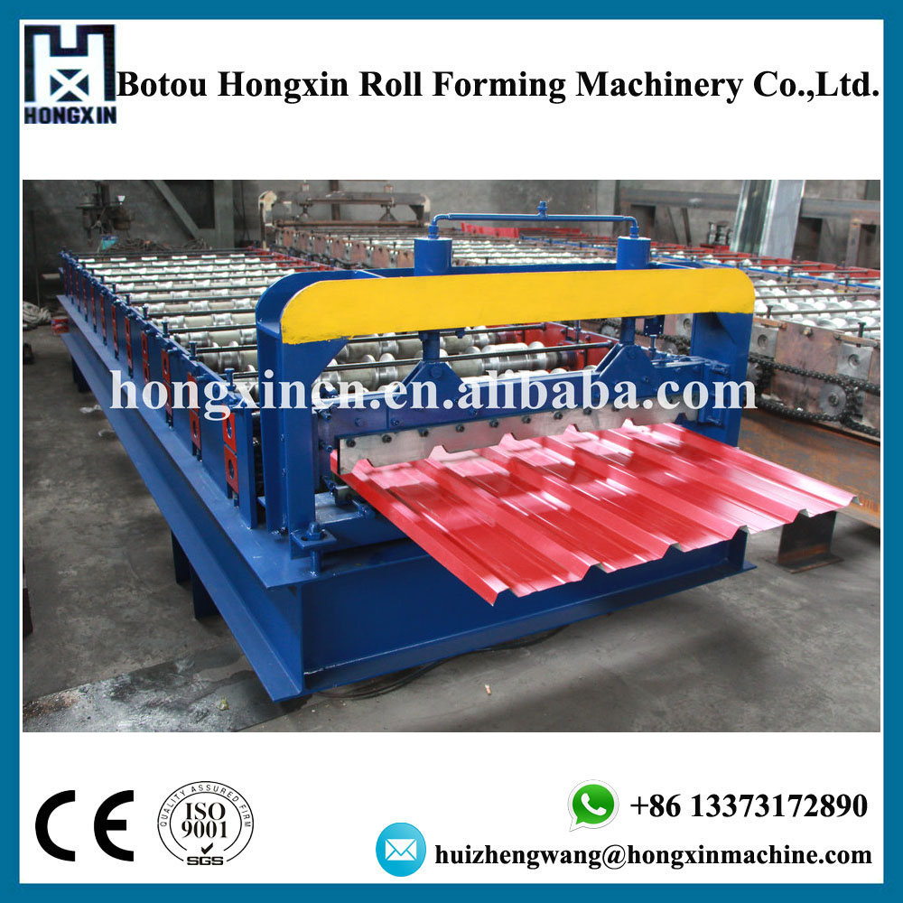 Botou Manufacturer Steel Roof Panel Sheet Press Making Machine with Auto Stacker