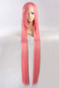 Hot sale high temperature fiber 120cm pink yellow long straight hair cosplay wig