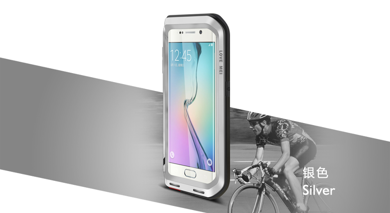 hot selling Original LOVE MEI Shockproof Aluminum phone case for samsung galaxy S6 EDGE