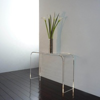 Custom Modern Clear Acrylic Lucite Perspex Console Table
