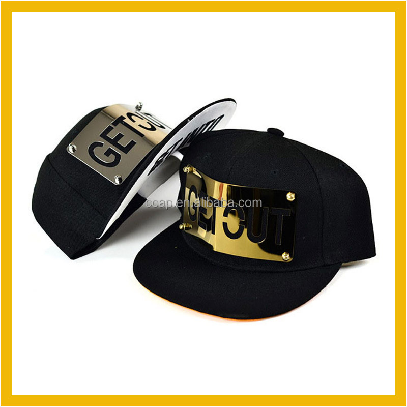 Custom Metal Logo Snapback Hats Made in China