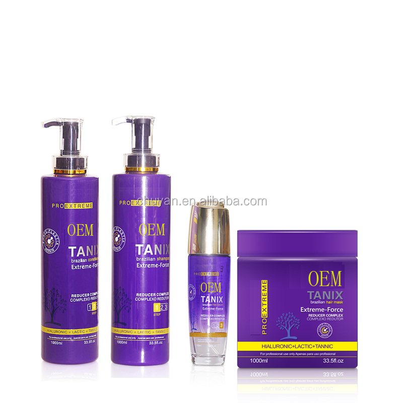 OEM/ODM 900ML professional keratin Moisturizing treatment hair conditioner and shampoo