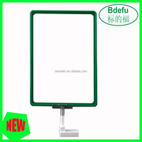Plastic poster frames in advertising display