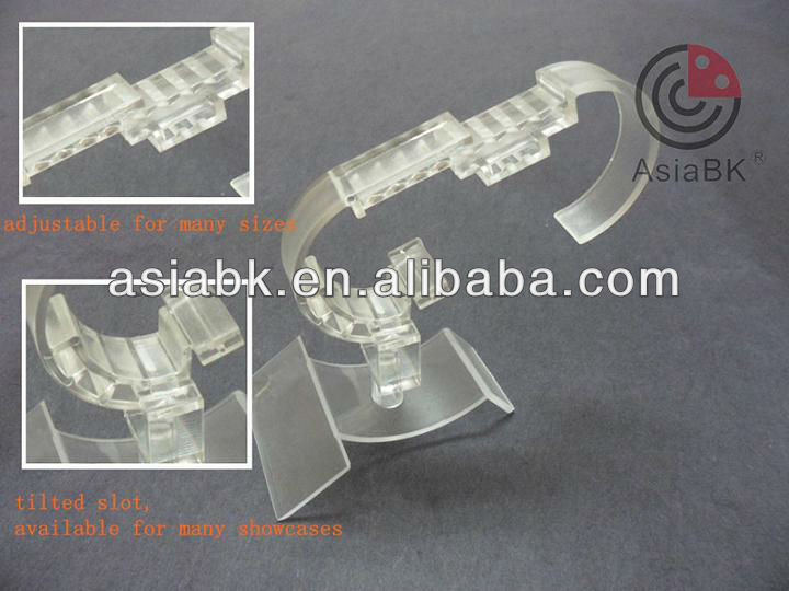 plastic adjustable acrylic watch point of sale motorized display base/holderfor exclusive agency