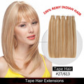 Full cuticle one donor Italian glue piano color tape in hair extension for sale