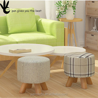 Kids Sitting Stool Cheap fabric stools In door Comfortable Living room Unique design Wood Childrens sofa