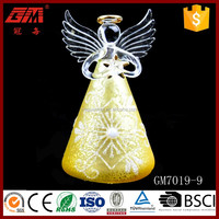 ISO9001 lighted glass angel indoor christmas decorations
