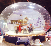 christmas giant human snow globe,big inflatable human snow globe